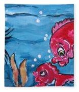 Fish Art Fleece Blanket