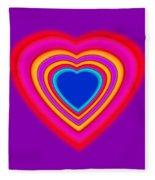 Art Heart Blue Fleece Blanket