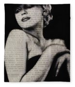 Art In The News 13-marilyn Fleece Blanket