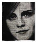 Art In The News 17-emma Watson Fleece Blanket