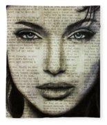 Art In The News 44- Angelina Jolie Fleece Blanket