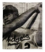 Art In Thenews 16-jackie Fleece Blanket