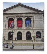 Art Institute West Facade Fleece Blanket