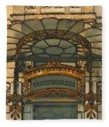 Art Nouveau Doorway In Ljubljana Fleece Blanket