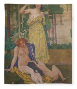 Art Nouveau Painting In The Mayors Fleece Blanket