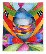 Art Nouveau Shaman Fleece Blanket