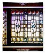 Art-nouveau Stained Glass Window Fleece Blanket