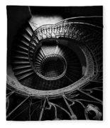 Art Nouveau Staircase Fleece Blanket