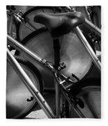 Art Of The Bicycle Fleece Blanket