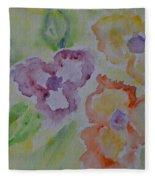 Art Of Watercolor Fleece Blanket