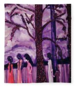 Art Purple Rain Fleece Blanket