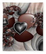 Art With Heart Fleece Blanket