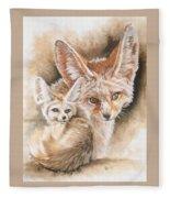 Artful Fleece Blanket by Barbara Keith