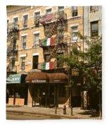 Arthur Avenue In The Bronx Fleece Blanket