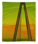 Arthur Ravenel Jr Bridge V Fleece Blanket