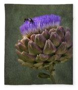 Artichoke Bloom And Bee Dip Fleece Blanket