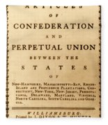 Articles Of Confederation, 1777 Fleece Blanket
