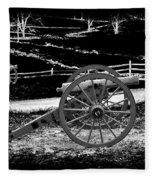 Artillery At Gettysburg Fleece Blanket