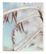 Artistic Abstract Closeup Of Frozen Tree Branches Fleece Blanket