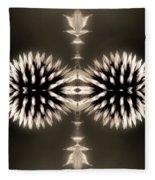 Artistic Flower Abstract Fleece Blanket
