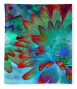 Artistic Flowers Fleece Blanket