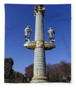 Artistic Lamp Post At The Place De La Concorde In Paris France Fleece Blanket