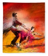 Artistic Roller Skating 02 Fleece Blanket