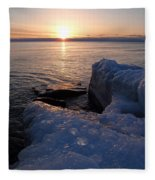 Artistic Sunrise Fleece Blanket