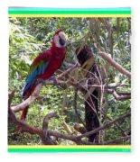 Artistic Wild Hawaiian Parrot Fleece Blanket