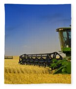 Artists Choice Two Combine Harvesters Fleece Blanket