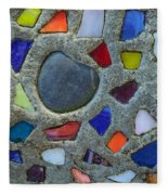 Artsy Glass Chip Sidewalk Fleece Blanket