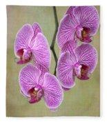 Artsy Phalaenopsis Orchids Fleece Blanket