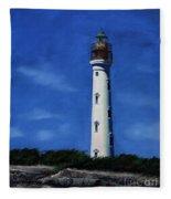 Aruba Light House Fleece Blanket