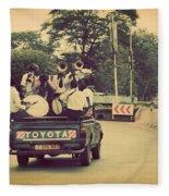 Arusha. Tanzania. Africa. A Group Of Young Men Celebrating Their Graduation Fleece Blanket