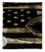 As American As Apple Pie Fleece Blanket