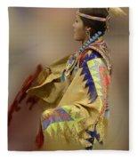 Pow Wow As In A Dream 2 Fleece Blanket