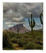 As The Clouds Pass By  Fleece Blanket