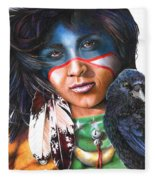 As The Crow Flies Fleece Blanket