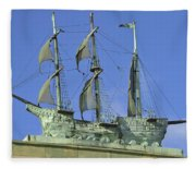 Asbury Park Nj Convention Hall Ship  Fleece Blanket