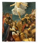 Ascension Of Christ Fleece Blanket