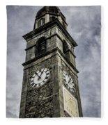 Ascona Clock Tower Fleece Blanket