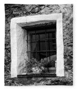 Ascona Window Bw Fleece Blanket