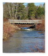 Ash Brook And Bridge Fleece Blanket