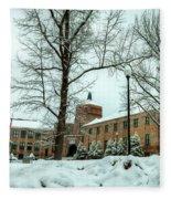 Asheville High School During Winter Fleece Blanket