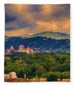 Asheville North Carolina Fleece Blanket