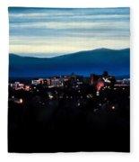 Asheville Skyline Fleece Blanket