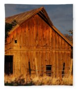 Ashland Barn In Evening Light Fleece Blanket