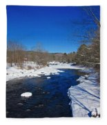 Ashuelot River In Winter Fleece Blanket
