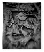 Asian Intricacy Fleece Blanket
