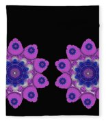 Asian Purple Orchids Fleece Blanket